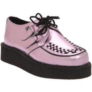 TUK Metallic Pink Creepers